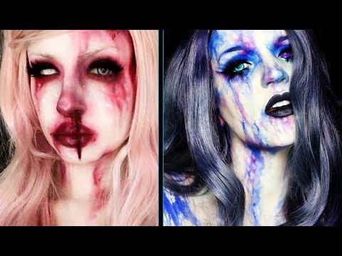 WATERCOLOR | Halloween Makeup Tutorial | IzaStrawberry Collab