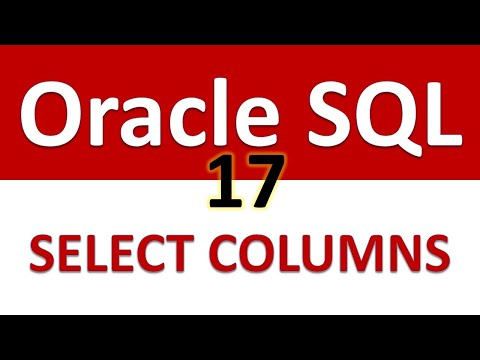 Oracle SQL Developer Tutorial For Beginners   17   Selecting Particular Columns