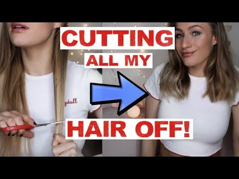 CUTTING ALL MY HAIR OFF WITH KITCHEN SCISSORS   Vlogmas Day 4