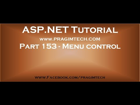 Part 153   Menu control in asp net