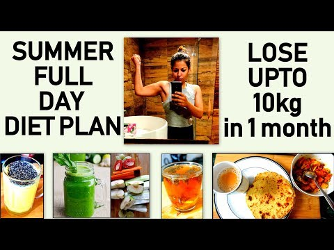 Summer Weight Loss Diet Plan to Lose 10 Kg | Full Day Diet/Meal Plan To Lose Weight Fast in Summer