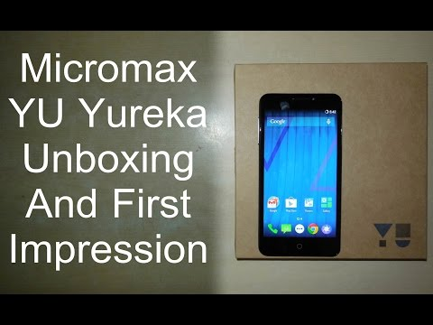 Micromax YU Yureka Unboxing & First Impression | Actual Retail Box From Amazon