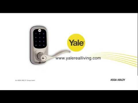 Yale Real Living Keyless Touchscreen Lever Lock with Z-Wave in Satin Nickel