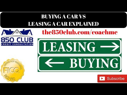 Buying A New Car VS Leasing A New Car At The Dealership With Your FICO Score