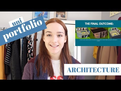 My University Portfolio for Architecture  *Accepted!* | Jess Louise