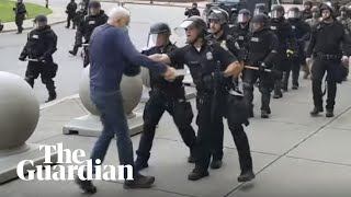 Video shows police in New York state shoving 75-year-old to ground