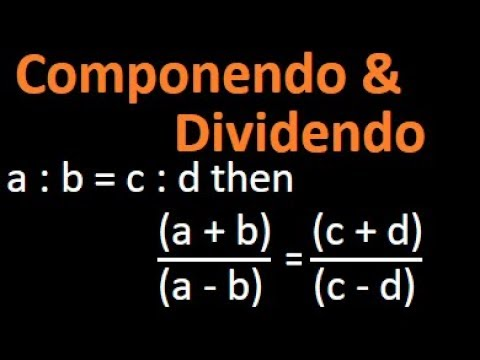Componendo and dividendo : properties of proportion | Arithmetic | Bank Po IBPS