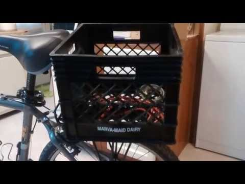 Attach a removable milk crate to your bicycle