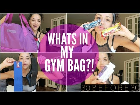 30 BEFORE 30, Day 18 || Whats In My Gym Bag?