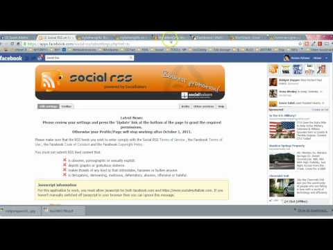 Auto Post RSS to your Facebook