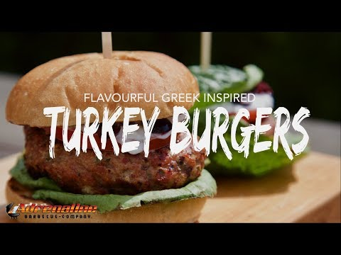 Grilled Turkey Burger Recipe - How to Make Greek Turkey Burgers on the Weber Kettle