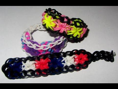 Loom Bands STARBURST Bracelet (Gumičky návod Crazy Loom / bands / Fun Loom)