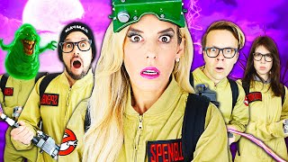 Giant Ghostbusters Game in Real Life to Trap Real Ghost! | Rebecca Zamolo