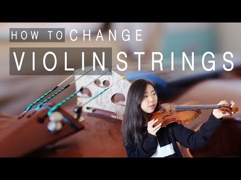 How to Change Violin Strings (Tutorial) | Esther Hwang