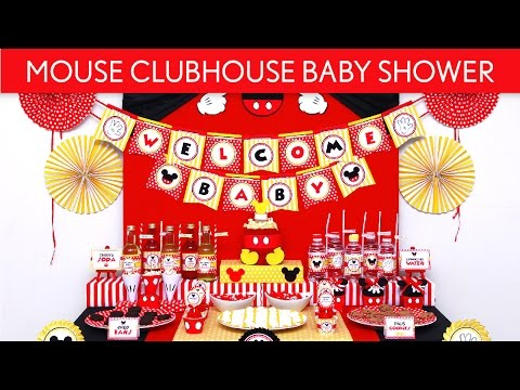 Mouse ClubHouse Baby Shower Party Ideas // Mouse ClubHouse - S51