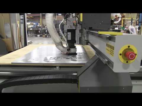MultiCam 3000 Router cutting aluminum sheet
