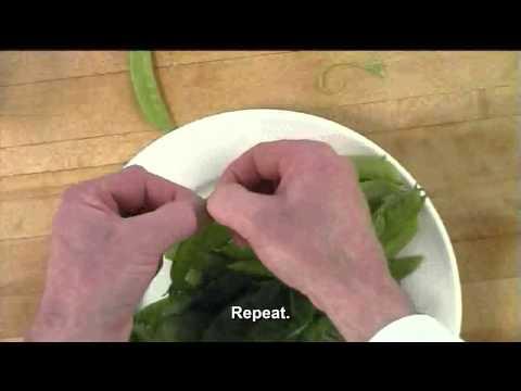 snow peas removing strings