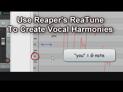 Using Reaper's ReaTune To Create Vocal Harmonies