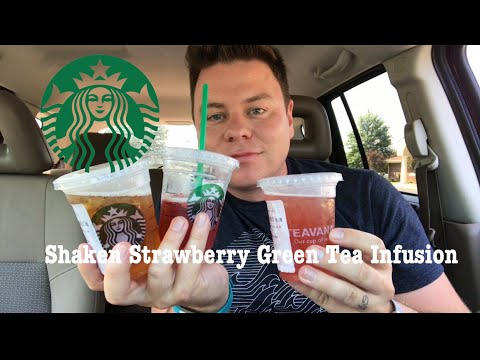 STARBUCKS SHAKEN STRAWBERRY GREEN TEA INFUSION WITH A SCOOP OF STRAWBERRIES REVIEW 1/3