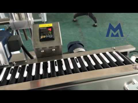 Micmachinery horizontal way small glue tube vape pen labeling machine with counter