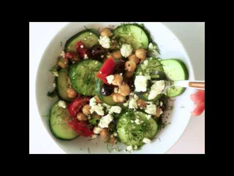 Greek Cucumber and Chickpea Breakfast Bowl | Cooking Light