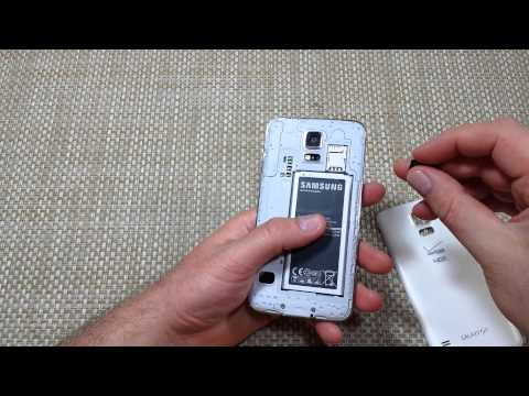 Samsung Galaxy S5 How to remove insert Micro Sd Memory Card