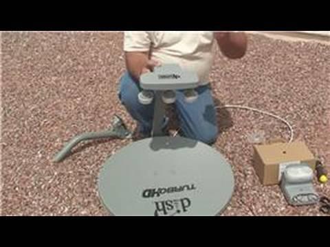 Satellite TV Installation : How to Build a LNB Bracket for Satellite Dish