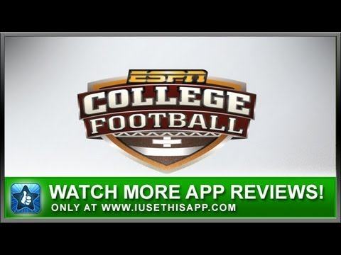ESPN College Football iPhone App - Sports iPhone App