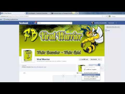 Facebook Anwendung ( App ) zur Fanpage hinzufügen / Neuen Fanpage Tab erstellen