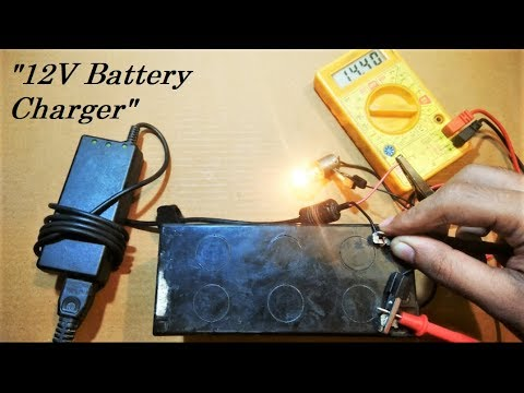 Charge 12V bike, car or ups battery with laptop charger
