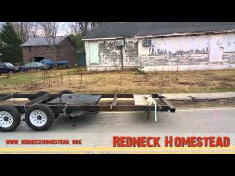 Converting a Camper to A Trailer for the Harbor Freight Sawmill | Redneck Homestead