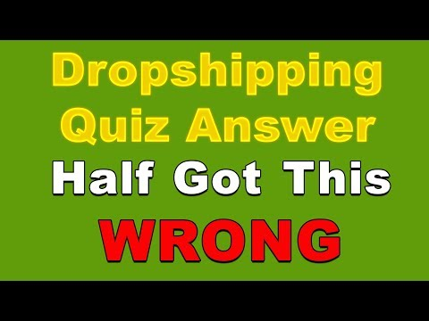 QUIZ ANSWER: Half of the Drop Shippers Got This Wrong