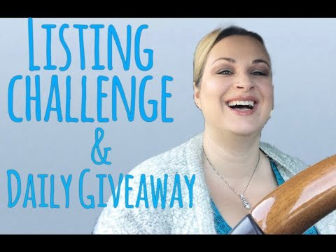 How to list items on eBay faster LISTING CHALLENGE Giveaway