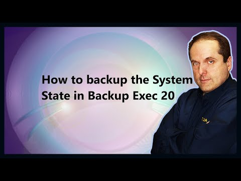 How to backup the System State in Backup Exec 20
