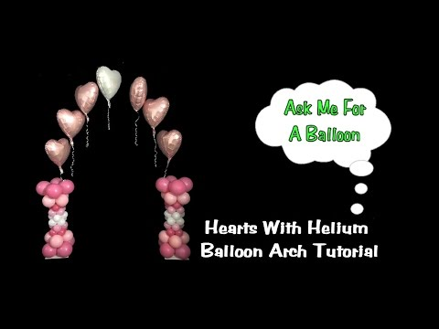Balloon Arch with Floating Hearts