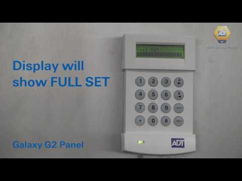 How to set your alarm using a code - Galaxy G2 Panel - ADT UK
