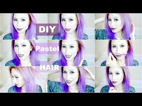 DIY Pastel Purple Ombre Balayage Hair from Dark Brown Asian Hair without Damage | FoodishBeauty