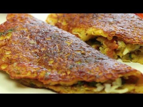 How To Make Paneer & Besan Cheela | Homemade Paneer & Besan Cheela | Quick & Easy Cheela Recipe