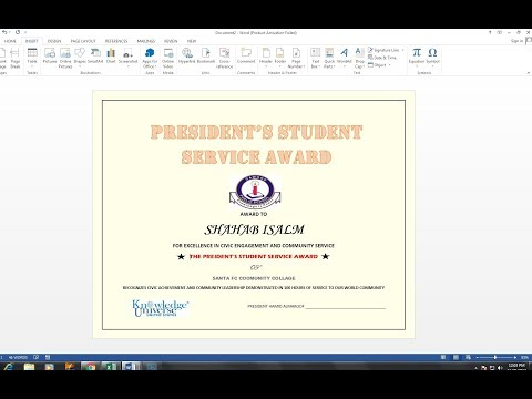 HOW TO MAKE CERTIFICATE DESIGN IN MS WORD HINDI