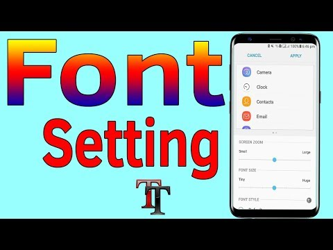 Font Setting : How To Increase or Change Font Size On Galaxy J7/S7/S8/S9 - Helping Mind