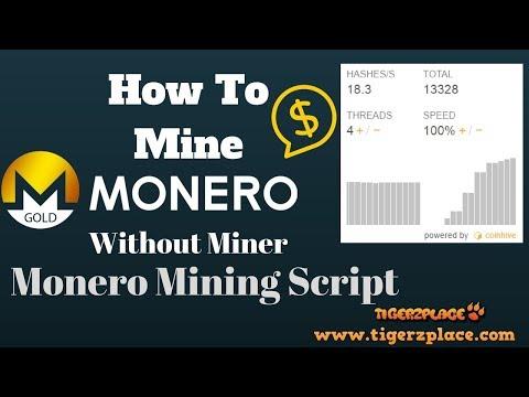 How to Mine Monero Without Miner - Monero Mining Script
