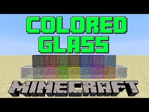 How To Make Colored/Stained Glass in Minecraft | Update 1.7.9