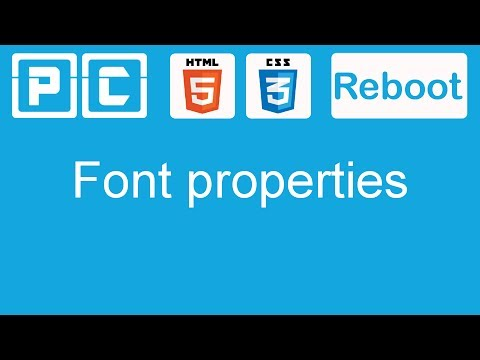 HTML5 and CSS3 beginners tutorial 13 - font properties