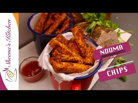 HOW TO MAKE NDUMA |OVEN ROASTED NDUMA CHIPS (Arrowroot chips)