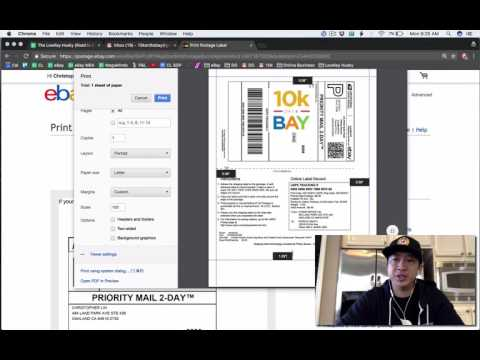 E54: How to Print an eBay Shipping Label on Half a Sheet a Paper w/ a Laser or InkJet Printer!