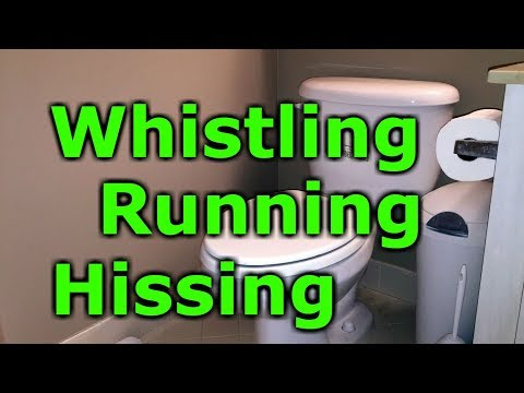 Loud sound High Pitch noisy keeps running Toilet Fix whistling hissing Fill Valve Fluidmaster 400a