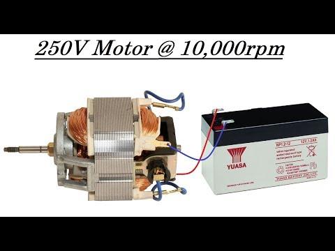 Run a High Torque 220V Mixer or Drill Motor at 10000rpm with 12V DC DIY
