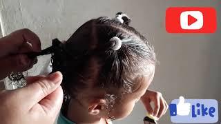 Penteado infantil asa de borboleta com trança e Maria Chiquinha.   #penteadodagrazii
