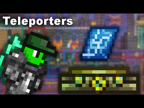 The easiest way to set up teleporters! (Terraria)