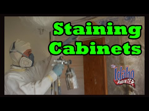 How To Stain Kitchen Cabinets.